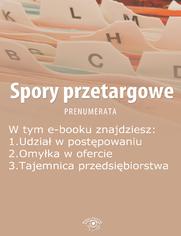 Spory przetargowe, wydanie sierpień 2014 r
