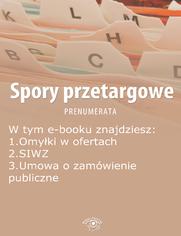 Spory przetargowe, wydanie wrzesień 2014 r