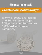 Finanse jednostek oświatowych i wychowawczych, wydanie marzec 2015 r