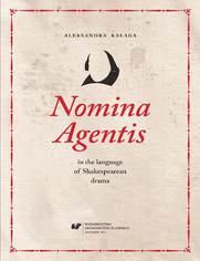 Nomina Agentis in the language of Shakespearean drama