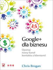 Ok�adka ksi��ki Google+ dla biznesu