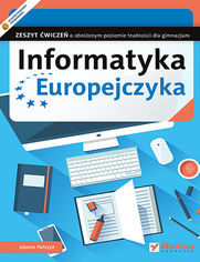 Ok�adka ksi��ki Informatyka Europejczyka. Zeszyt �wicze� o obni�onym poziomie trudno�ci dla gimnazjum