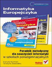 Ok�adka ksi��ki Informatyka Europejczyka. Poradnik metodyczny dla nauczycieli informatyki w szko�ach ponadgimnazjalnych