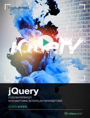 Okładka - jQuery. Kurs video. Poziom pierwszy. Interaktywne interfejsy internetowe
