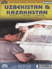 Uzbekistan i Kazakhstan, Mapa ITMB 1:580 000/ 1:3 000 000 - brak