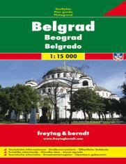 Belgrad. Mapa