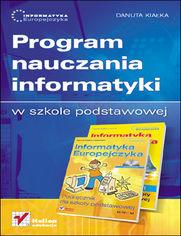 Ok�adka ksi��ki Informatyka Europejczyka. Program nauczania informatyki w szkole podstawowej