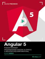 Okładka - Angular 5. Kurs video. Poziom pierwszy. Programowanie webowe w oparciu o architekturę komponentową