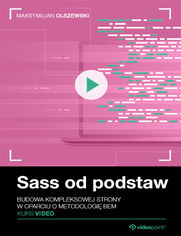 Okładka - Sass od podstaw. Kurs video. Budowa kompleksowe...