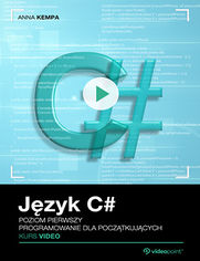Okładka - Język C#. Kurs video. Poziom pierwszy. Programo...