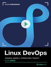 Okładka - Linux DevOps. Kurs video. Jenkins, Ansible, Ter...