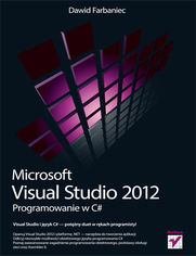Ok�adka ksi��ki Microsoft Visual Studio 2012. Programowanie w C#