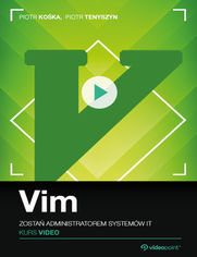 Okładka - Vim. Kurs video. Zostań administratorem systemów IT