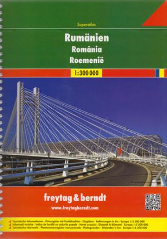 Okładka książki/ebooka Rumunia. Atlas Freytag & Berndt / 1:300 000