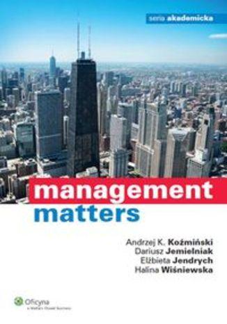 Okładka książki/ebooka Management matters