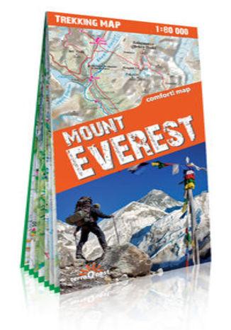 Okładka książki/ebooka Mount Everest laminowana mapa trekkingowa. Skala: 1:30 000; 1:100 000; 1:110 000