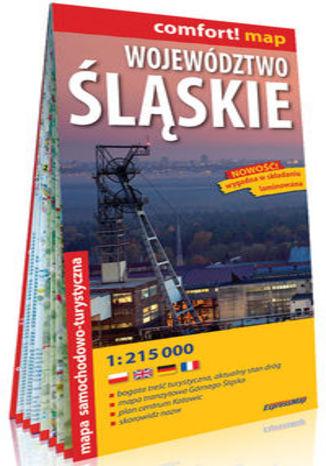 Okładka książki/ebooka Województwo Śląskie laminowana mapa samochodowo-turystyczna 1:215 000