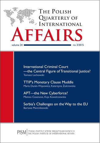 Okładka książki/ebooka The Polish Quarterly of International Affairs nr 3/2015