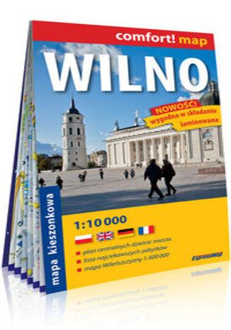 Okładka książki/ebooka Wilno kieszonkowy laminowany plan miasta 1:10 000