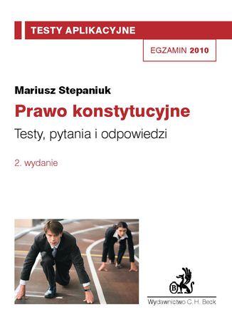 Okładka książki/ebooka Prawo konstytucyjne. Testy, pytania i odpowiedzi Tom 4
