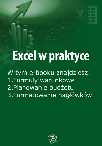 Okładka książki Excel w praktyce, wydanie grudzień 2015 r