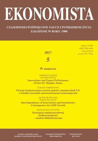 Okładka książki/ebooka Ekonomista 2017 nr 5
