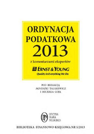 Okładka książki/ebooka Ordynacja podatkowa 2013 wraz z komentarzem ekspertów Ernst & Young