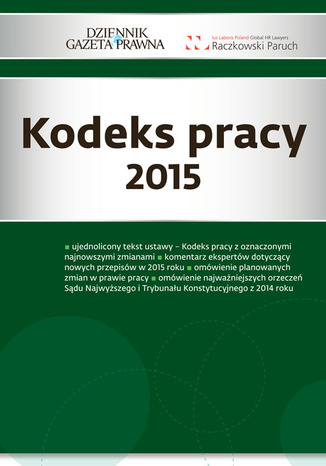 Okładka książki/ebooka Kodeks pracy 2015