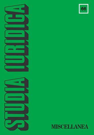 Okładka książki/ebooka Studia Iuridica nr 66