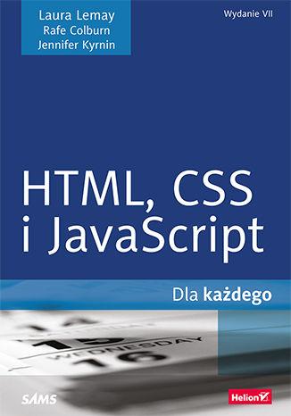 Okładka książki HTML,CSS i JavaScript dla każdego. Wydanie VII