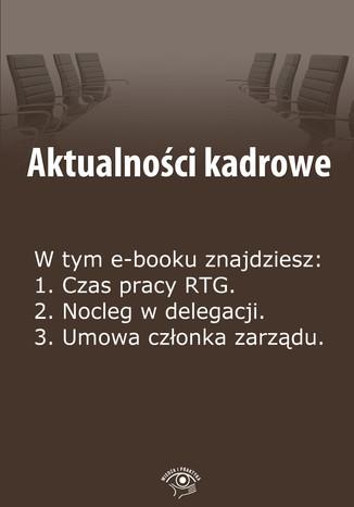 Okładka książki/ebooka Aktualności kadrowe, wydanie czerwiec 2014 r