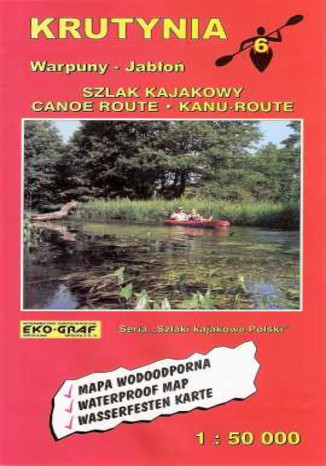 Okładka książki/ebooka Krutynia. Mapa kajakowa EkoGraf / 1:50 000