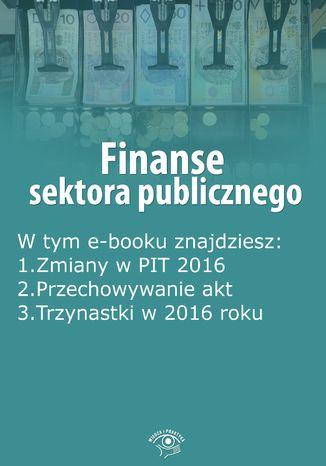 Okładka książki/ebooka Finanse sektora publicznego, wydanie marzec 2016 r