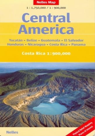 Okładka książki/ebooka Ameryka Środkowa. Mapa