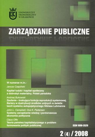 Okładka książki/ebooka Zarządzanie Publiczne nr 2(4)/2008