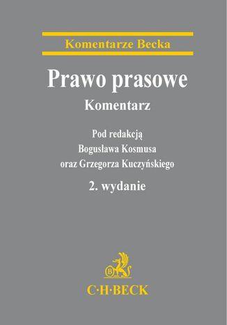 Okładka książki/ebooka Prawo prasowe. Komentarz