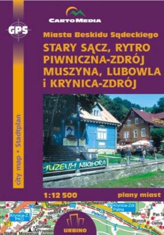 Okładka książki/ebooka Miasta Beskidu Sądeckiego. Mapa CartoMedia / 1:12 500