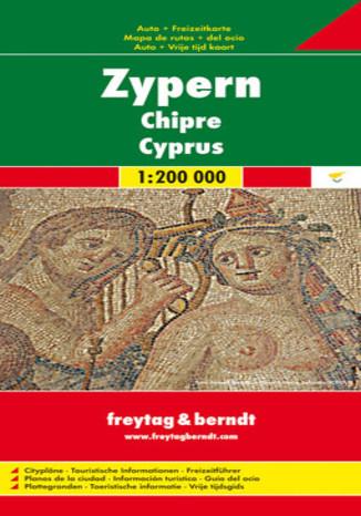 Okładka książki/ebooka Cypr mapa 1:200 000 Freytag & Berndt