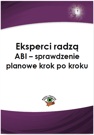 Okładka książki/ebooka Eksperci radzą ABI - sprawdzenie planowe krok po kroku