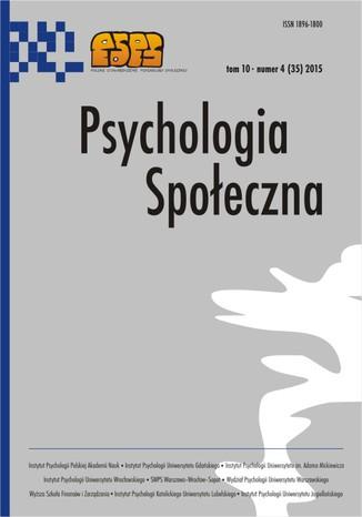 Okładka książki/ebooka Psychologia Społeczna nr 4 (35)/2015