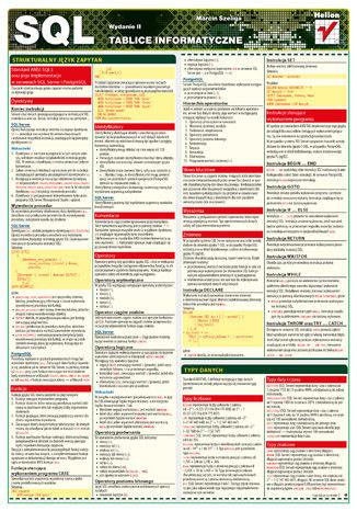 Okładka książki/ebooka Tablice informatyczne. SQL. Wydanie II
