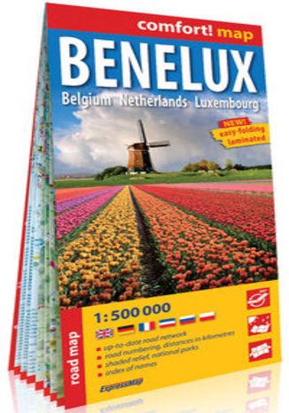 Okładka książki/ebooka Benelux Belgia Holandia Luksemburg; laminowana mapa samochodowa 1:500 000