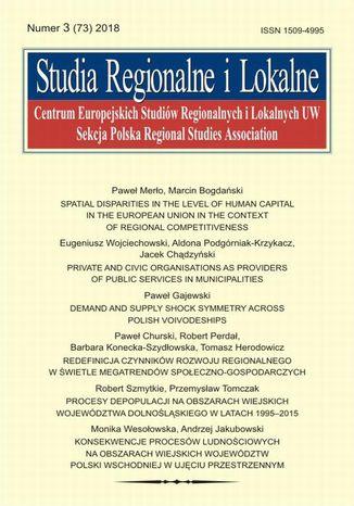 Okładka książki/ebooka Studia Regionalne i Lokalne nr 3(73)/2018