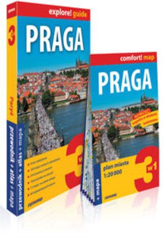 Okładka książki/ebooka Praga 3w1 przewodnik + atlas + mapa