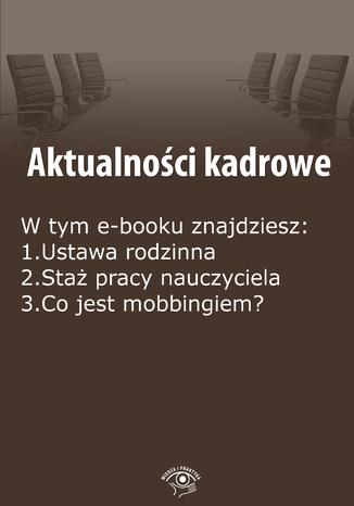 Okładka książki/ebooka Aktualności kadrowe, wydanie maj 2015 r