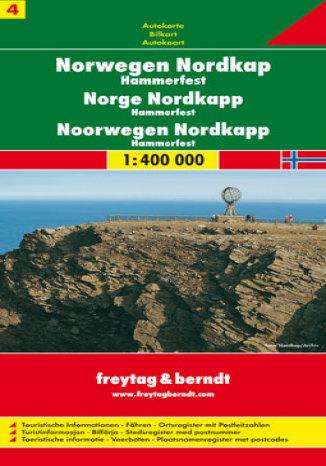 Okładka książki/ebooka Norwegia cz. 4 Nordkapp Hammerfeld. Mapa samochodowa