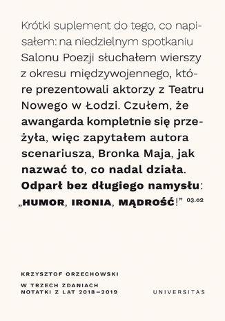Okładka książki/ebooka W trzech zdaniach. Zapiski z lat 2018/2019