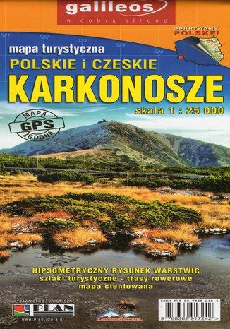 Okładka książki Polskie i Czeskie Karkonosze, 1:25 000