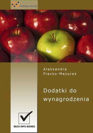 Okładka książki/ebooka Dodatki do wynagrodzenia