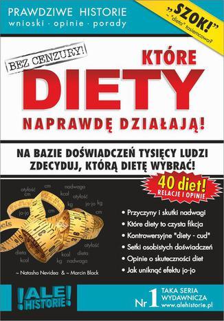Okładka książki/ebooka Które diety naprawdę działają. Prawdziwe historie, wnioski, opinie, porady